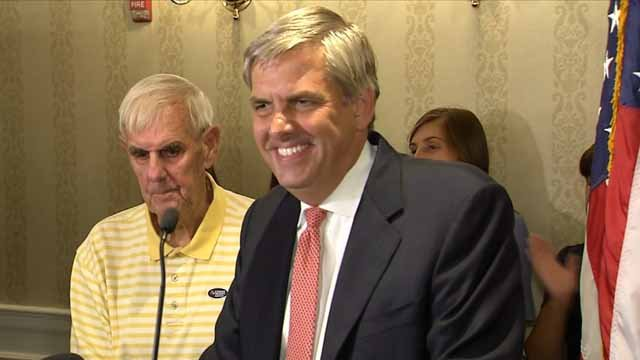 Bob Stefanowski won the GOP primary for governor on Tuesday (WFSB)