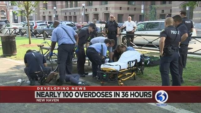 Video: Crews called to nearly 100 overdoses in New Haven in 36 hours