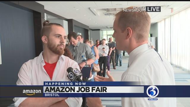 VIDEO: Amazon hiring event underway in Bristol