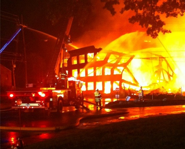 iWitness photo of the mill fire in Somers