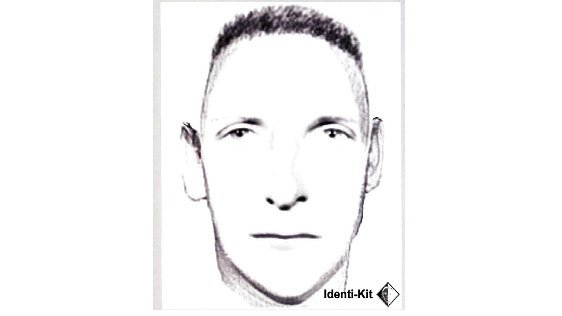 This sketch was released by Vernon police after a woman was attacked while walking her dogs on a popular walking trail.