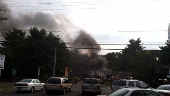 A fire was reported at Jitters Cafe in Southington on Wednesday morning.