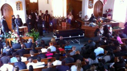 A funeral was held Tuesday for a teen killed in a double stabbing in Meriden last month.