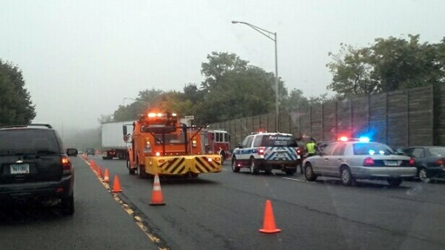 This iWitness photo was sent in near the scene of the crash on Route 9.