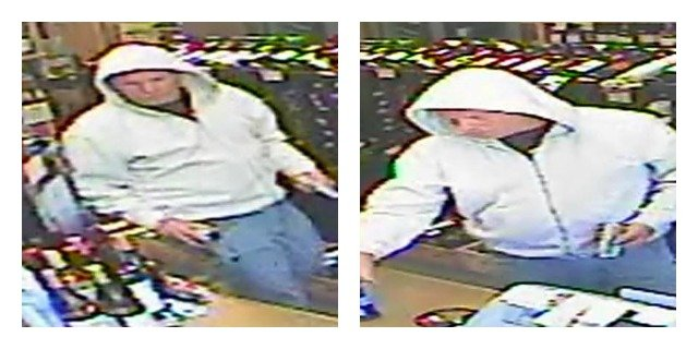 © Milford police provided this photo of the suspect during the Milford Wine & Spirits robbery.