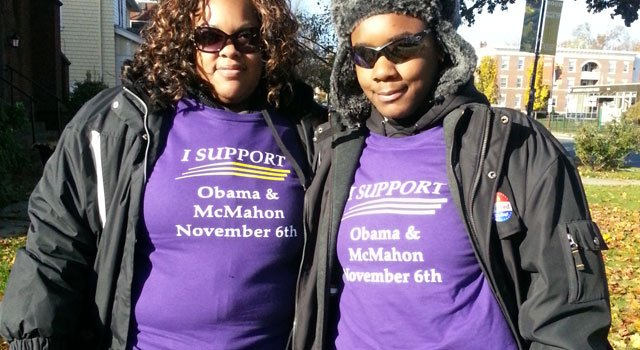 © Shirts that Linda McMahon's supporters wore at the polls in Hartford, New Haven and Bridgeport.