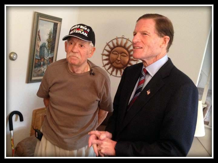 U.S. Sen. Richard Blumenthal & U.S. veteran Anthony Calo