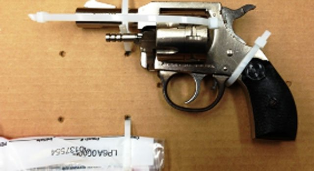 © Firearm and drugs seized at 859 Albany Ave. in Hartford.