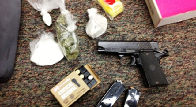 © Firearm and drugs seized at 88 New Britain Ave. in Hartford.