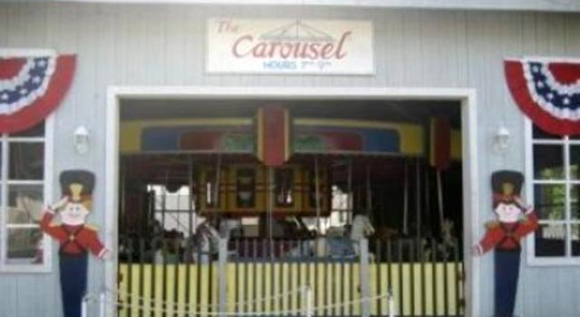 © A photo from its Facebook page of the Carousel Shop in Old Lyme before Hurricane Sandy.