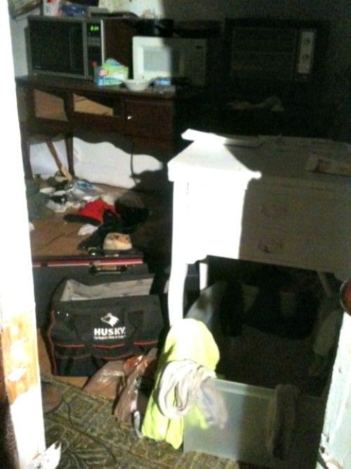 Inside Krumm's Vernon apartment