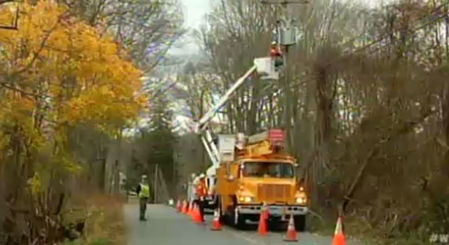 © Connecticut Light & Power crews working during Hurricane Sandy.