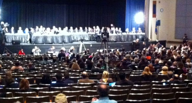 © Gun Violence Prevention and Child Safety Task Force held its final public hearing at Newtown High School.