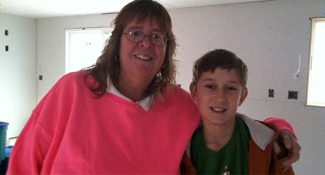 © A photo of Maureen Jahne with her nephew Owen provided by her family.