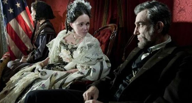 "© This image released by DreamWorks II Distribution Co., LLC and Twentieth Century Fox Film Corporation shows Sally Field and Daniel Day-Lewis appear in a scene from ""Lincoln."""