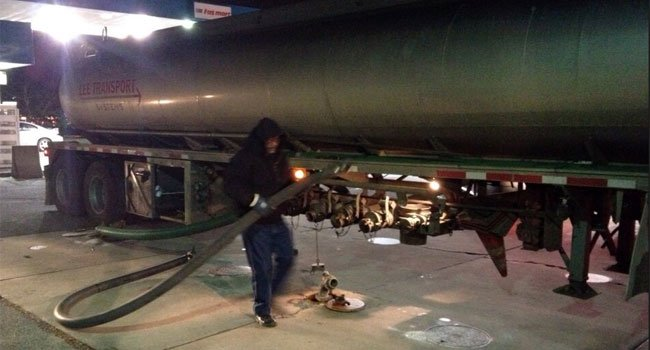 © One employee delivered 12,000 gallons of fuel to one gas station Thursday.