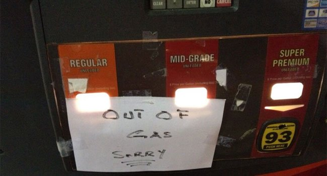 © There is no gas at some stations throughout Connecticut.