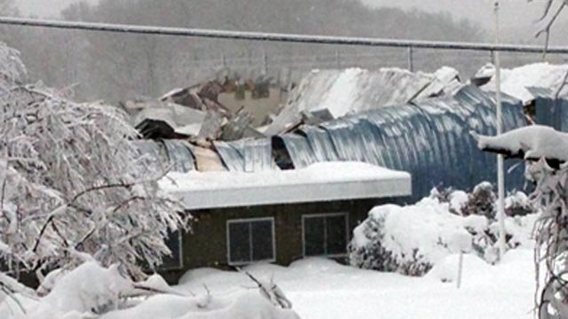 A building collapsed in Clinton Saturday morning.