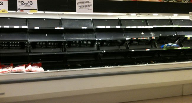 © There was no lettuce at the Big Y in West Springfield.