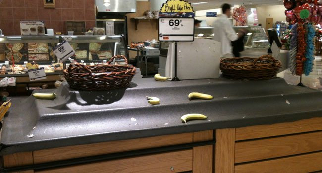 © There was no bananas at the Big Y in West Springfield.