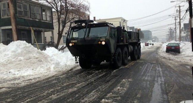 © The National Guard arrives in Bridgeport