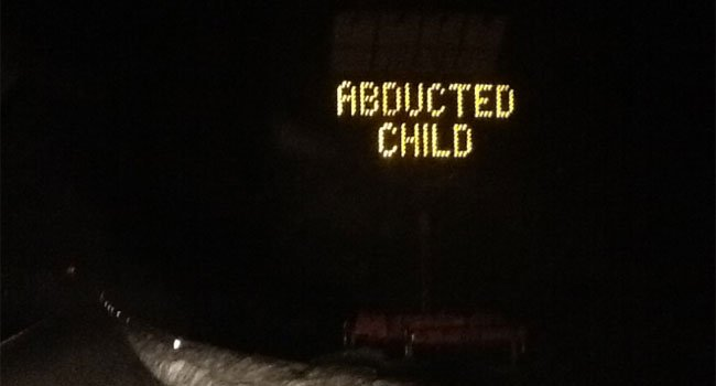 © A highway sign on Route 9