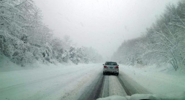 © WFSB viewer takes a photo of Route 2 in Glastonbury Friday morning