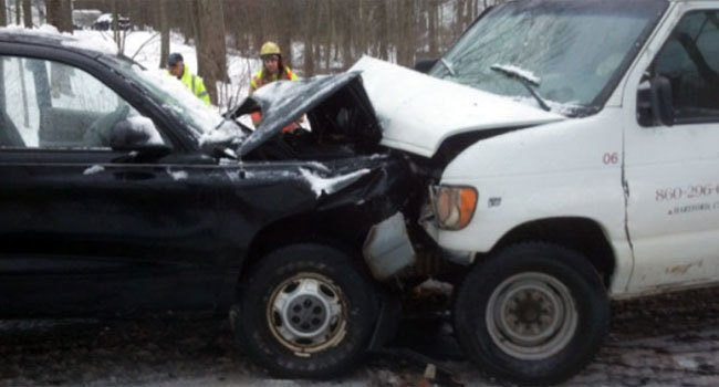 ? Two cars crashed on Route 140 in Somers.