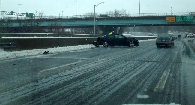 ? A multi-car crash was reported on Route 2 eastbound in East Hartford.
