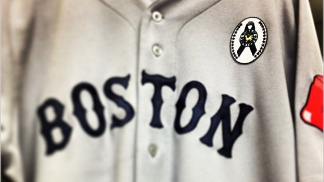 Here is a photo of the patch both teams will wear posted by the Red Sox on Twitter