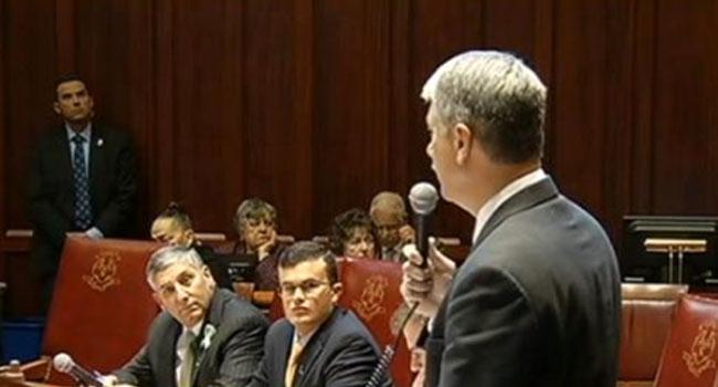 ? State Sen. Don Williams talks about the gun control legislation.