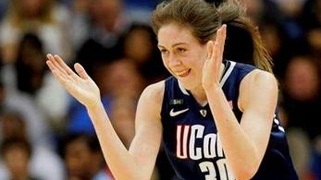 ? (AP Photo/Dave Martin) UConn Freshman Breanna Stewart claps her hands.