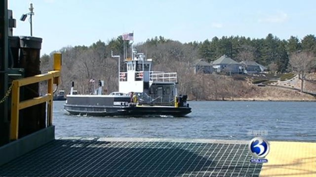 ? The Chester-Hadlyme Ferry pulls into dock Tuesday.