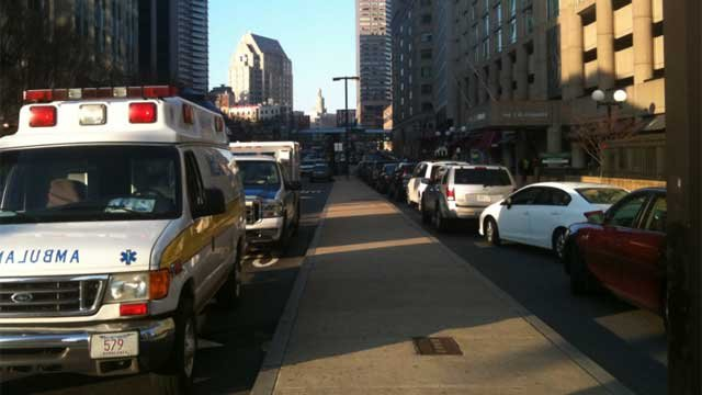 Boylston Street is completely closed, according to Tina Martin, who is in Boston.