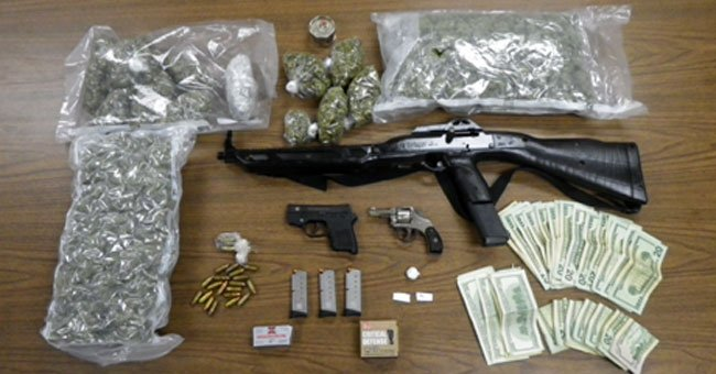 Drugs and weapons seized by Norwich police during the bust.