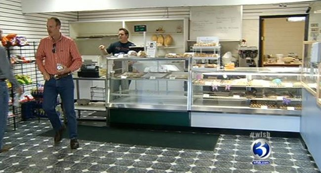 Customers visit the Italian Gourmet Deli and Bakery in Newington.