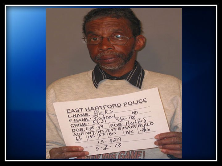 The following photo of Rodney Hicks was provided by the East Hartford Police Department.