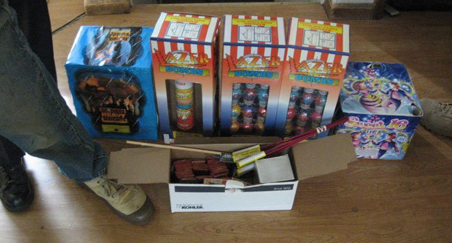 Fireworks were seized from an Ashford home.