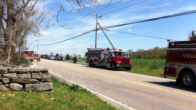 An explosion was reported in Sterling Friday morning.