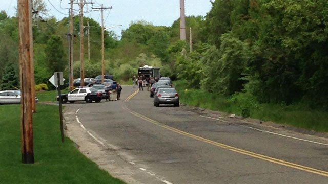 Police investigate on Quarry Road in Trumbull.