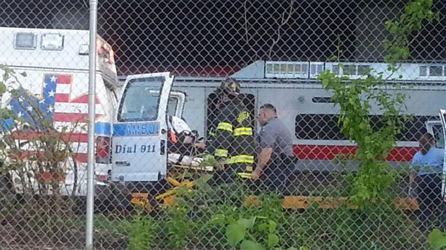 The following photo was taken by Rob Oliver, who was injured during the train derailment.
