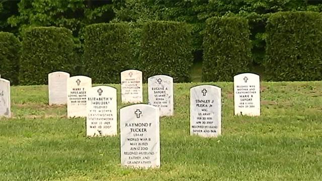 Gravestones at Hillstown Road Cemetery