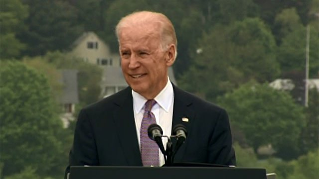 Vice-President Joe Biden was the  keynote speaker at the U.S. Coast Guard Academy graduation in New London Wednesday morning.