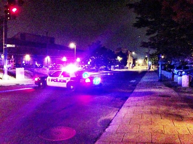 Several shots were fired right behind the police department on Hanover Street.