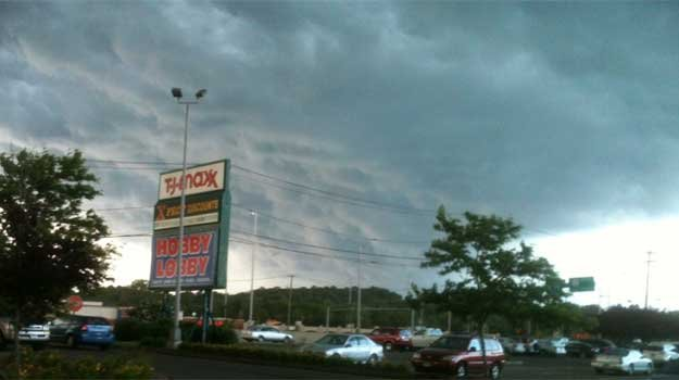Storm clouds forming in East Haven.