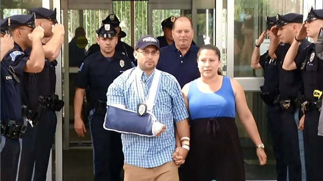 Officer Kevin Winkler was released from Windham Memorial Hospital.