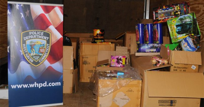 The following photo of seized fireworks was provided by the West Haven Police Department.