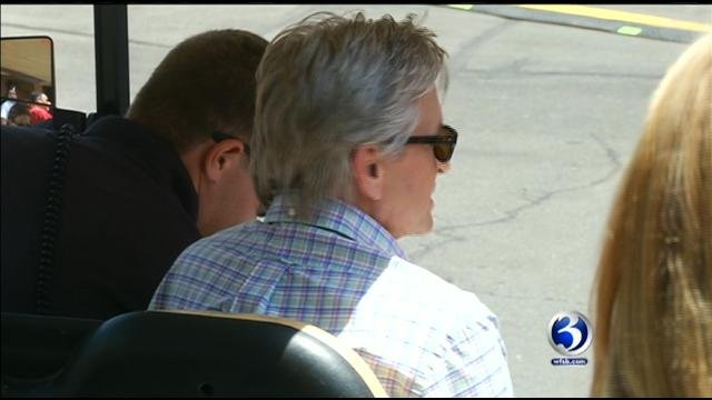 Michael Douglas was filming a movie at Lake Compounce in Bristol