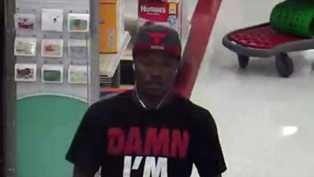 Police said they want to talk to this man after he used a stolen credit cart at a Target in Orange.