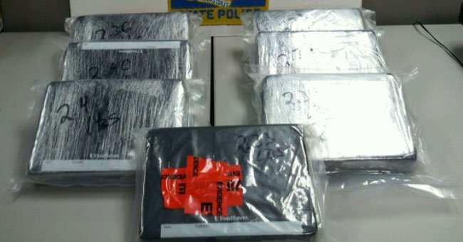 The following photo of items seized by the Statewide Narcotics Task Force.